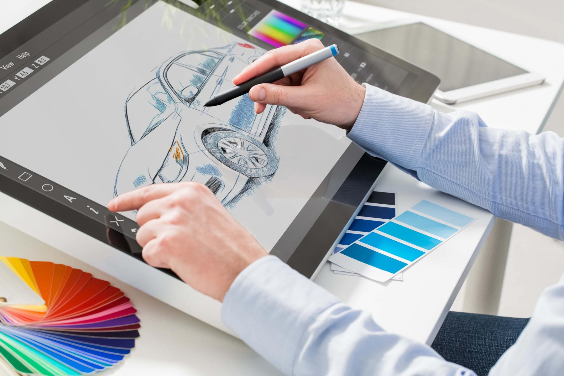 Sketching, 3D, graphic design